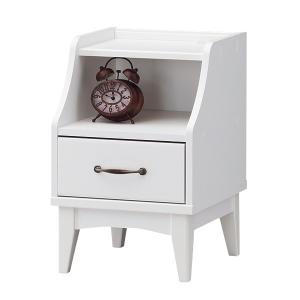 ナイトテーブル レトロア レトロモダン コンセント付 幅38cm ( チェスト サイドテーブル コーヒーテーブル )|interior-palette