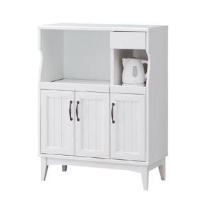 キッチンストッカー アンティーク風 レトロア レトロモダン( ホワイト 木製 )|interior-palette