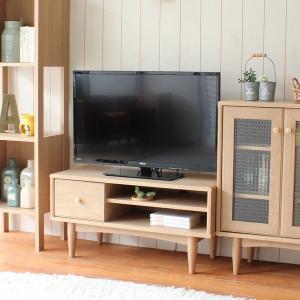 テレビ台 AVボード 北欧風 ナチュラル ほこほこ 幅80cm ( テレビボード AV収納 TV台 TVボード 木製 )|interior-palette