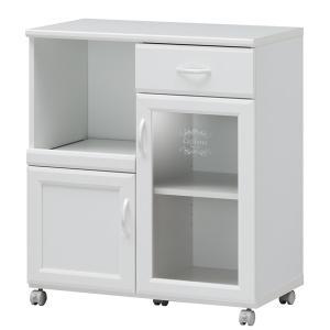 カウンターワゴン 食器棚 キャスター付 カフェ風デザイン セシルナ 幅74cm ( キッチンカウンター キッチンワゴン キッチンラック )|interior-palette