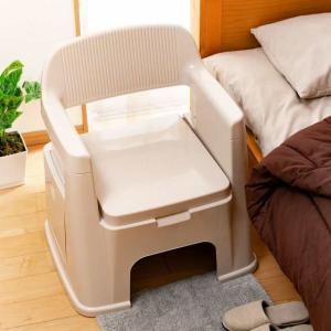 ポータブルトイレ 背もたれ型 ( 介護用トイレ 福祉 介護 排泄関連用品 )