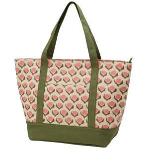●北欧柄のナチュラルなWファスナー式ショッピングバッグです。 ●内側はアルミ蒸着素材、表側は帆布生地...