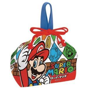 お弁当袋 ランチ巾着 スーパーマリオ 子供用 キャラクター ( 給食袋 ランチボックス巾着 子供用お弁当袋 )