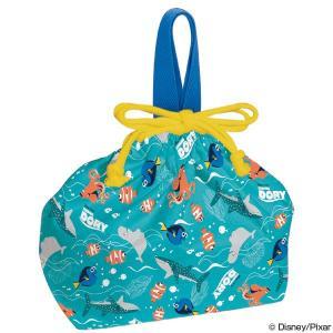 お弁当袋 ランチ巾着 ファインディング・ドリー 子供用 キャラクター ( 給食袋 ランチボックス巾着 子供用お弁当袋 )
