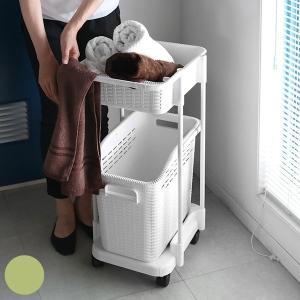 ランドリーワゴン 2段 ランドリーメイト 洗濯かご ( ランドリーボックス ランドリーバスケット 脱衣かご )|interior-palette