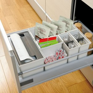 キッチン収納ケース ゴミ袋収納ボックス システムキッチン 引き出し用 トトノ ( ゴミ袋ストッカー ポリ袋ストッカー ポリ袋ホルダー )|interior-palette|15