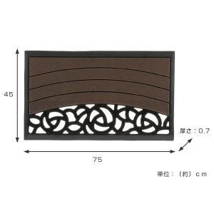 玄関マット 屋外 スクエア ローズ S ( 洗える エントランスマット マット )|interior-palette|03