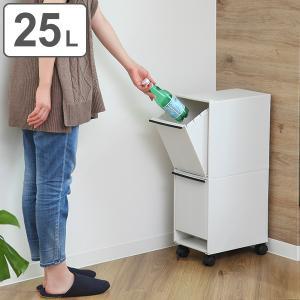 ゴミ箱 分別 縦型 2段 分別ワゴン 分別ごみ箱 スリム ( ごみ箱 キッチン 分別 )|interior-palette