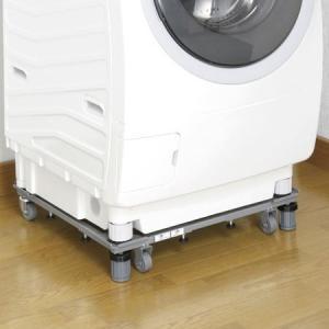 【ポイント最大26倍】新洗濯機スライド台 洗濯機置き台 キャスター付 ( 洗濯機 移動 台車 ランドリー )|interior-palette
