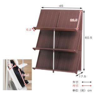 シューズラック 省スペース 3段 ( シューズボックス 靴箱 靴入れ )|interior-palette|04
