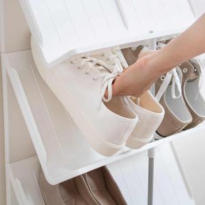 シューズラック 省スペース 3段 ( シューズボックス 靴箱 靴入れ )|interior-palette|07