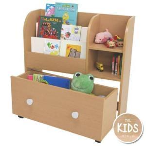 キッズおもちゃ箱付き絵本ラック naKids ( キッズ用 子供用 本棚 ブックシェルフ )|interior-palette