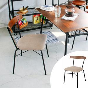 ダイニングチェア 椅子 スチールフレーム クッション座面 anthem 座面高44cm ( チェア チェアー イス 布張り 座面ファブリック )|interior-palette