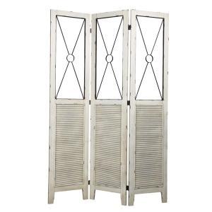 スクリーン 天然木 Blossom 高さ180cm ( 木製 パーテーション 衝立 間仕切り 洋風屏風 シャビー風 シャビーシック )|interior-palette