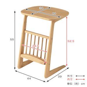【週末限定クーポン】サイドテーブル 天然木 アッシュ材 幅44cm ( テーブル 机 つくえ カフェテーブル ナイトテーブル 木製 収納付き )|interior-palette|03