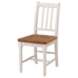 ダイニングチェア 椅子 ミディ シャビー調 天然木製 オイル仕上 ( ナチュラル フレンチカントリー )|interior-palette