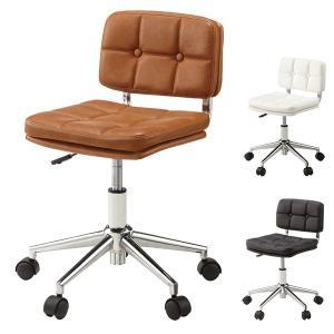 デスクチェア オフィスチェアー ソフトレザー キャスター付き 座面高40〜50cm ( 椅子 チェア チェアー イス いす パソコンチェアー )|interior-palette
