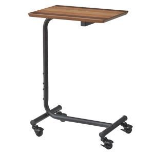 サイドテーブル キャスター付き スチール脚 エルマー 高さ61.5cm ( テーブル 机 デスク カフェテーブル ナイトテーブル )|interior-palette
