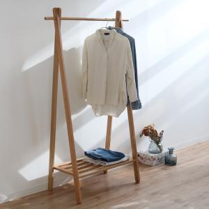 ハンガーラック 木製 天然木 オーク材 幅61cm ( コートハンガー 洋服掛け コート掛け ハンガー ハンガー掛け )|interior-palette