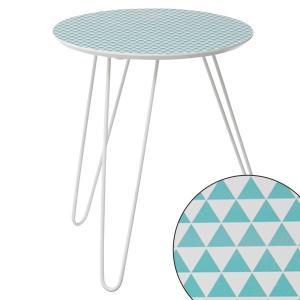 サイドテーブル 丸型 スチール脚 シルキー 鱗模様 ( テーブル 机 つくえ ナイトテーブル カフェテーブル )|interior-palette