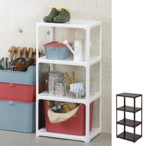 オープンラック カタス 3段 収納棚 収納 カラーボックス 組み合わせ 日本製 ( シェルフ ディスプレイラック プラスチック ) interior-palette