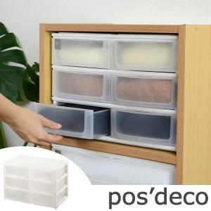収納ケース ポスデコ ワイドサイズ 浅型ショート6段 カラーボックス用 ( 収納ボックス カラーボックス インナーボックス )|interior-palette