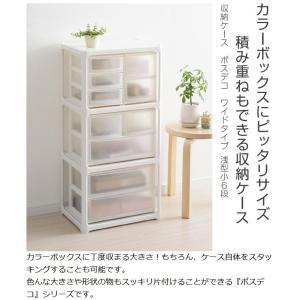 収納ケース ポスデコ ワイドサイズ 浅型ショート6段 カラーボックス用 ( 収納ボックス カラーボックス インナーボックス )|interior-palette|02