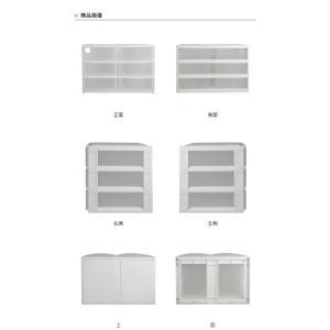 収納ケース ポスデコ ワイドサイズ 浅型ショート6段 カラーボックス用 ( 収納ボックス カラーボックス インナーボックス )|interior-palette|03