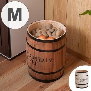 コーヒー樽 木樽 ヒノキ製 Mサイズ 高さ43cm ( インテリア 収納 木製 樽型 バレル ) interior-palette
