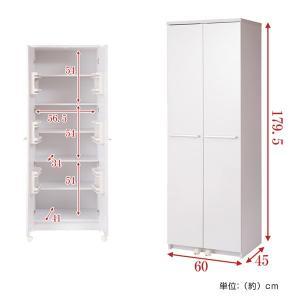食器棚 キッチンストッカー 収納庫 北欧風 Face 幅60cm ( キッチン収納 戸棚 ストッカー カップボード キッチン家具 台所家具 台所収納 ) interior-palette 04
