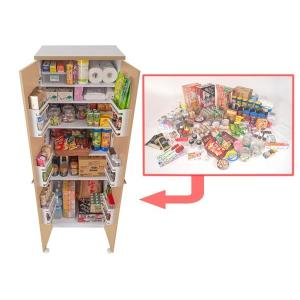 食器棚 キッチンストッカー 収納庫 北欧風 Face 幅60cm ( キッチン収納 戸棚 ストッカー カップボード キッチン家具 台所家具 台所収納 ) interior-palette 05