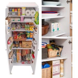 食器棚 キッチンストッカー 収納庫 北欧風 Face 幅60cm ( キッチン収納 戸棚 ストッカー カップボード キッチン家具 台所家具 台所収納 ) interior-palette 06