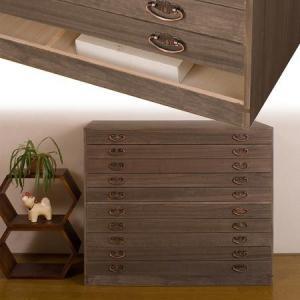 モダン桐引出し箪笥 10段 高さ84cm 桐タンス 桐衣装ケース|interior-palette
