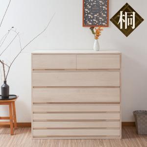桐タンス 7段 桐収納 日本製 白木仕上げ 幅100cm ( 桐たんす 桐 箪笥 タンス 着物収納 着物 収納 和たんす 和室 )|interior-palette