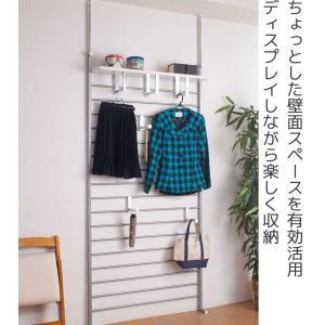 突っ張りラダーラック 幅95 つっぱり 壁面収納 国産|interior-palette|02