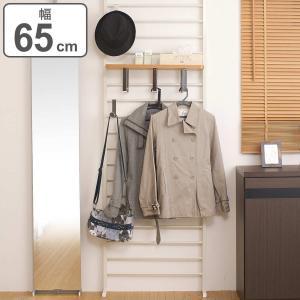 突っ張り壁面収納 棚付 幅65cm アイボリー(ラック つっぱり収納 )|interior-palette