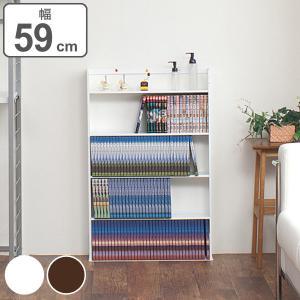 壁面ミニコミックラック 薄型 幅59cm ( 本棚 書棚 CD DVD 収納 )|interior-palette