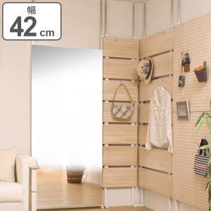 突っ張りラック 桐材天然木製 幅42cm ナチュラル ( 壁面収納 ディスプレイ 天井つっぱり )|interior-palette