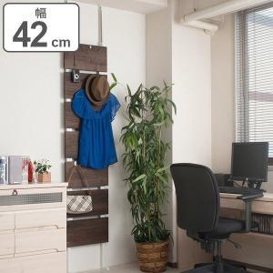 突っ張りラック 桐材天然木製 幅42cm ダークブラウン ( 壁面収納 ディスプレイ 天井つっぱり )|interior-palette