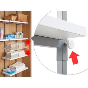 壁面収納 突っ張りオープンラック 無段階調整 棚板2段付 幅60cm ( つっぱり 突っ張り ラック )|interior-palette|05