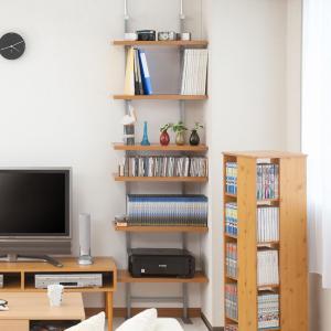 壁面収納 突っ張りオープンラック 無段階調整 棚板2段付 幅60cm ( つっぱり 突っ張り ラック )|interior-palette|06