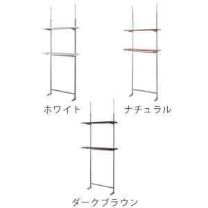 壁面収納 突っ張りオープンラック 無段階調整 棚板2段付 幅90cm ( つっぱり 突っ張り ラック )|interior-palette|03