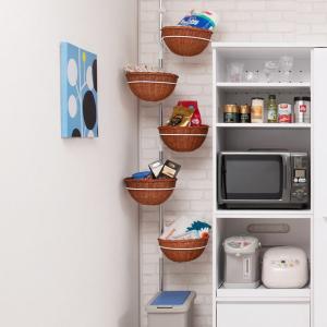 突っ張り 突っ張りラック 収納 バスケット ( キッチン収納 玄関収納 突っ張り収納 ) interior-palette