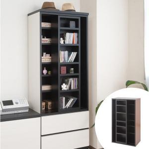 壁面収納 本棚 スライド書棚 ウォールストレージ 幅60cm ( 書棚 棚 収納棚 収納ラック シェルフ 多目的ラック ディスプレイラック ) interior-palette
