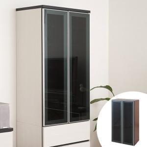 壁面収納 棚 ガラス扉付ラック ウォールストレージ 幅60cm ( ガラス扉 扉付 扉付き 棚 収納棚 収納ラック ) interior-palette
