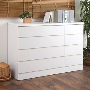 チェスト ホワイト 約幅120cm ロータイプ ( ローチェスト タンス 木製 )|interior-palette