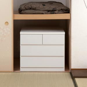 チェスト 3段 整理タンス 押入れ収納 奥深 キャスター付 幅75cm ( 木製 押入れ クローゼット 収納 クローゼット収納 完成品 日本製 )|interior-palette|09