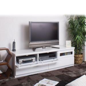 TVボード 艶ありホワイト 幅150cm