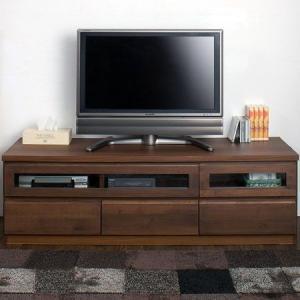 天然木テレビボード 幅220cm ダークブラウン AV収納 TV台|interior-palette