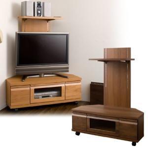 コーナーTVボード 中型 幅100cm( 上部収納 テレビ台 ラック 日本製 完成品 )|interior-palette
